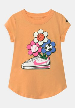 Nike Sportswear - CORTEZ FLOWER - T-shirt imprimé - orange chalk
