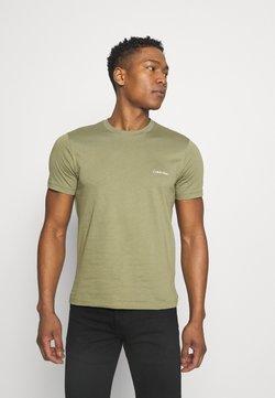 Calvin Klein - CHEST LOGO - Camiseta básica - green