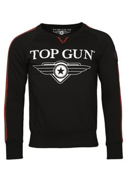 TOP GUN - WEICHES STREAK - Sweater - black