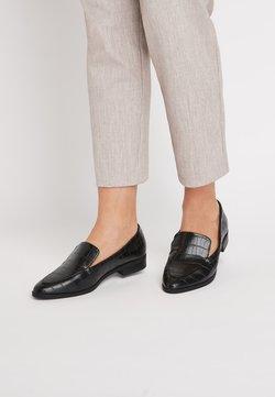 Next - BLACK ALMOND TOE LOAFERS - Slipper - black