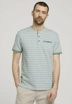 TOM TAILOR - GESTREIFTES - T-Shirt print - mint green waffle stripe