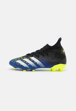 adidas Performance - PREDATOR FREAK .2 FG - Chaussures de foot à crampons - core black/footwear white/solar yellow