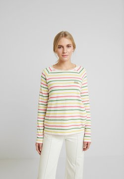 TOM TAILOR - SLUB CREW NECK - Langarmshirt - offwhite/multicolor