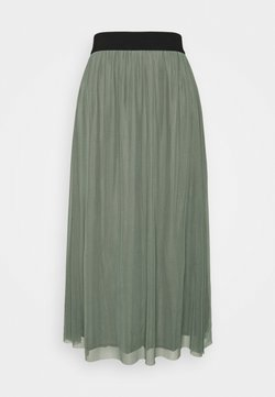 Bruuns Bazaar - THORA VIOL LONG SKIRT - A-Linien-Rock - moss