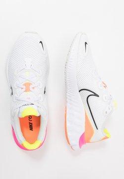 Nike Performance - RENEW RUN UNISEX - Juoksukenkä/neutraalit - white/black/platinum tint/pink blast/lemon/total orange