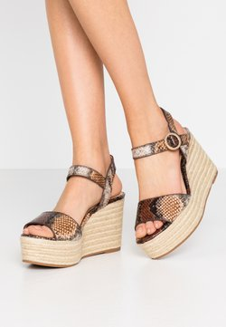 PARFOIS - High Heel Sandalette - multicolor/brown