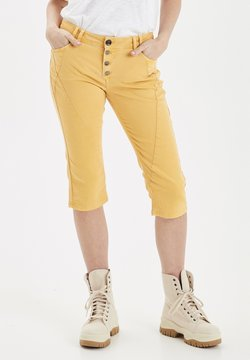 PULZ - PZROSITA  - Jeansshort - dark yellow