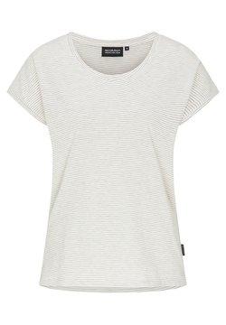 recolution - T-Shirt print - grey melange / white