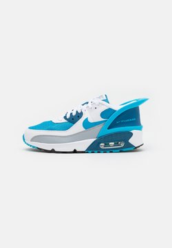 Nike Sportswear - AIR MAX 90 FLYEASE  UNISEX - Trainers - white/laser blue/industrial blue