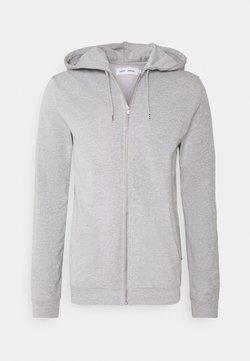 Samsøe Samsøe - ENNO ZIP HOODIE - Collegetakki - light grey melange