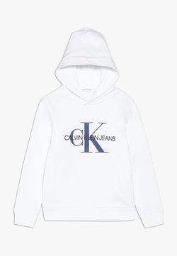 Calvin Klein Jeans - MONOGRAM HOODIE UNISEX - Bluza z kapturem - white