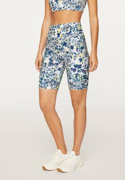 OYSHO - FLORAL PRINT  - Tights - blue