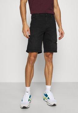 Solid - REGULAR RYDER - Jeans Shorts - black