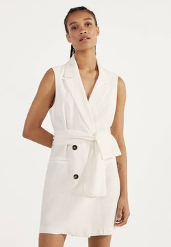 Bershka - MIT GÜRTEL 02870168 - Korte jurk - white