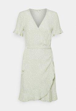 TOM TAILOR DENIM - MINI  WRAP DRESS - Vapaa-ajan mekko - green