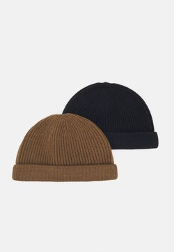 Only & Sons - ONSSHORT BEANIE 2 PACK - Mütze - black/camel