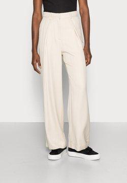 esmé studios - ESMARINA WIDE LOOSE PANTS - Trousers - bleached sand
