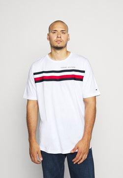 Tommy Hilfiger - GLOBAL STRIPE TEE - T-shirt imprimé - white