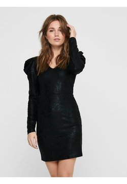 JDY - JDYMISSY PUFF SLEEVE DRESS - Vestido de tubo - black