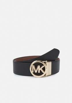 MICHAEL Michael Kors - REVERSIBLE BELT - Belt - black/luggage/gold-coloured