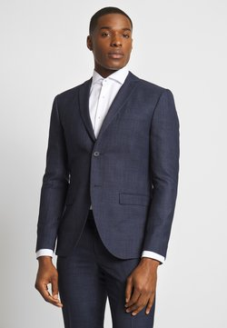 Isaac Dewhirst - CHECK SUIT - Anzug - dark blue