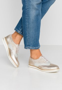Anna Field - LEATHER LACE-UPS - Casual lace-ups - gold