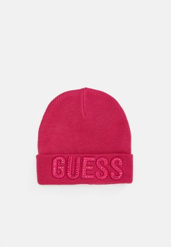 Guess - HAT WITH LOGO - Pipo - lava pink/rouge