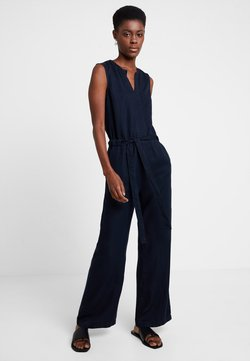 Marc O'Polo - OVERALL SLEEVELESS WIDE LEG BELT - Combinaison - blue blue denim