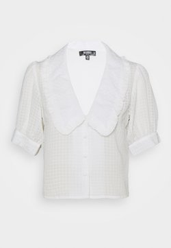 Missguided Petite - EXAGGERATED COLLAR BUTTON THROUGH BLOUSE - Hemdbluse - white