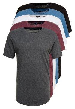 Only & Sons - ONSMATT  5-PACK - T-shirt basic - white/dark/blue/ melange/cab