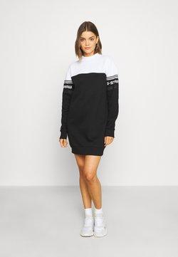 G-Star - BILBI BLOCK FUNNEL SW DRESS WMN LS - Korte jurk - black/white