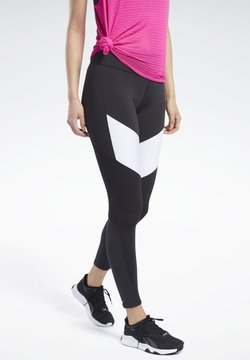 Reebok - LUX COLORBLOCK 2 LEGGINGS - Tights - black