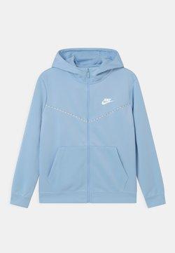 Nike Sportswear - REPEAT HOODIE - Veste de survêtement - psychic blue/white