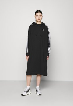 adidas Originals - HOODIE DRESS - Vapaa-ajan mekko - black