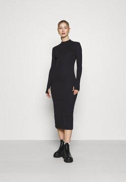 Weekday - ELLA DRESS - Vestido de punto - black