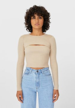 Stradivarius - MIT CUT-OUTS  - Strickpullover - brown