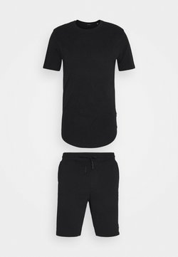 Only & Sons - ONSNEIL LONGY SHORTS AND TEE SET - Shorts - black