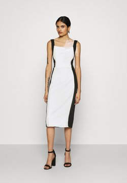 WAL G. - IVY STRAP BODYCON DRESS - Vestido de tubo - white/black