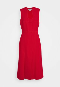 Victoria Beckham - CUT OUT FIT AND FLARE - Shift dress - red
