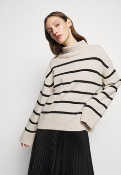 House of Dagmar - MAZZY STRIPE - Strickpullover - off-white