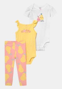 Carter's - PINKYELLPEAR SET - Camiseta estampada - light pink/yellow