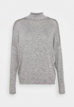 Wallis - CUT AND SEW HIGH NECK DOLMAN - Strickpullover - grey