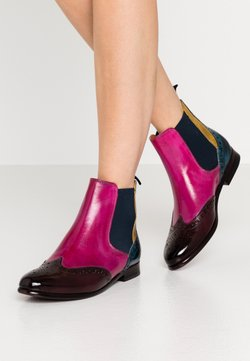 Melvin & Hamilton - SELINA  - Ankle Boot - mulberry/pink/indy yellow/ice lake/navy/rich tan