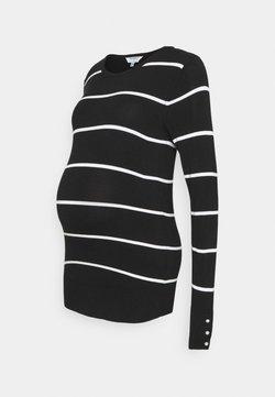 Dorothy Perkins Maternity - BLACK AND WHITE - Jersey de punto - black