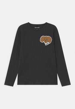 Mini Rodini - FLUFFY DOG PATCH UNISEX - Longsleeve - black