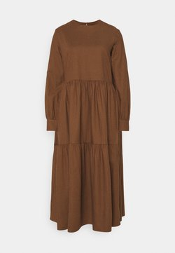 Marc O'Polo DENIM - DRESS PUFF LONG SLEEVE - Maxikleid - dark cocoa
