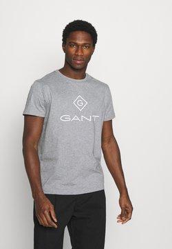 GANT - LOCK UP  - Printtipaita - grey melange
