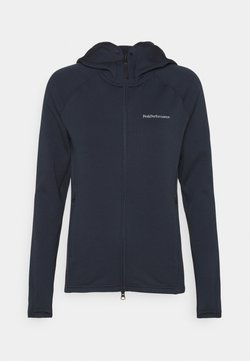 Peak Performance - CHILL ZIP HOOD - Fleecejacke - blue shadow