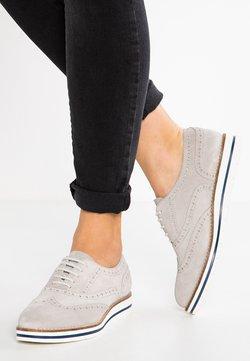 Anna Field - LEATHER FLAT SHOES - Sznurowane obuwie sportowe - light grey