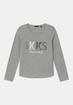 IKKS - LOGO  - Langarmshirt - gris chiné moyen